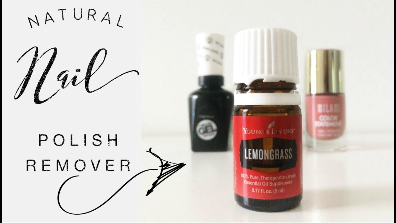 Removing nail polish with Young Living's Lemongrass essential oil!
